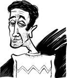 Caricature of a young man Stock Photos