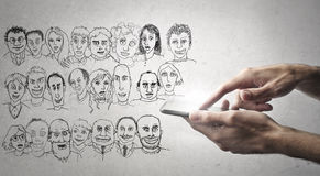 Caricatures royalty free stock images
