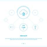 Carichi la progettazione di rete di concetto della nuvola Immagine Stock
