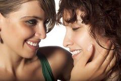 Caricia de las lesbianas Imágenes de archivo libres de regalías