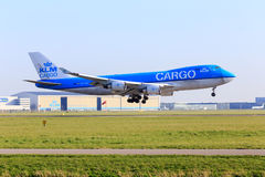 Carico Boeing 747 di KLM Fotografia Stock Libera da Diritti