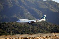 Carico del Cathay Pacific Immagine Stock