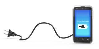 Carico del concetto del telefono Fotografia Stock