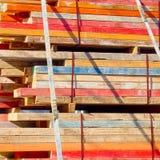 Carico del legname di contruction Fotografia Stock