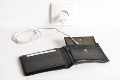 Carico del portafoglio vuoto Fotografia Stock Libera da Diritti