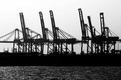 Carico della nave gru Fotografia Stock
