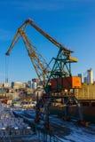 Carico di caricamento sulla nave Fotografie Stock