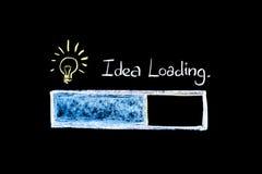Carico di idea - lavagna Fotografia Stock