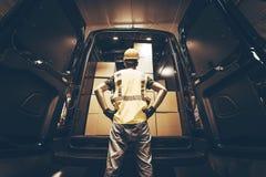 Carico Van Delivery Immagini Stock