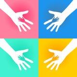 Caridad de las manos amigas stock de ilustración