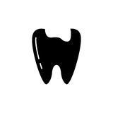 Caries tooth solid icon Royalty Free Stock Photos