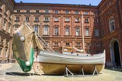 Carignano Palace, Turin Royalty Free Stock Photography