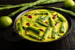 Caril asiático da manga de moringa da culinária, Imagens de Stock