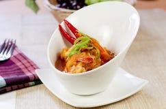 Caril asiático do camarão do alimento imagens de stock royalty free