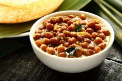 Caril caseiro delicioso e picante dos grãos-de-bico Channa Masala foto de stock