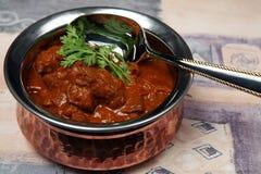 Caril da carne da manteiga de Madras fotografia de stock