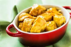 Caril da galinha com arroz imagens de stock