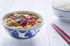 Caril da galinha, com cebolas e pimentões Foto de Stock