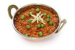 Caril de Keema, alimento indiano fotos de stock