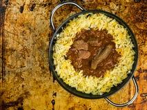 Caril de Madras da carne com arroz aromático do pilau Imagem de Stock Royalty Free