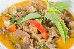 Caril de Panang com carne imagem de stock