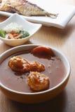 Caril de tomato - curry del tomate y de la gamba Foto de archivo