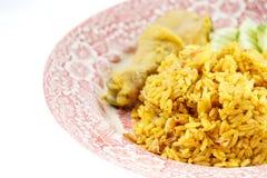 Caril do arroz da galinha Fotografia de Stock Royalty Free