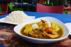 Caril do arroz e da carne Fotos de Stock