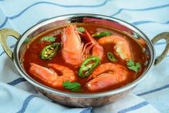 Caril do camarão fotografia de stock royalty free