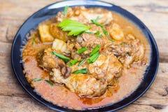 Caril do mussaman da galinha Fotografia de Stock