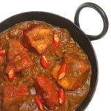Caril indiano de Jalfrezi da galinha Imagens de Stock