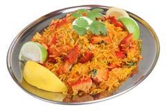 Caril indiano de Tikka Biriani da galinha Foto de Stock Royalty Free