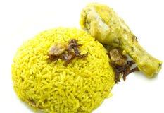 Caril indiano do arroz da galinha fotografia de stock royalty free