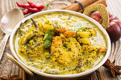 Caril indiano do camarão fotos de stock