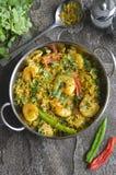 Caril indiano do camarão fotografia de stock royalty free