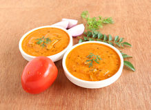 Caril indiano do tomate do alimento foto de stock