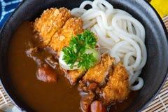 Caril japonês com udon imagem de stock