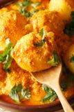 Caril picante recentemente preparado da batata ou aloo quente e picante miliampère de Dum Imagens de Stock Royalty Free