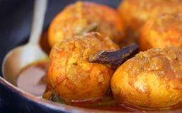 Caril picante tradicional do ovo do subcontinente indiano fotografia de stock royalty free