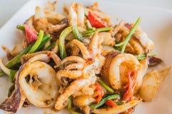 Caril salgado pimentões do calamar. Foto de Stock