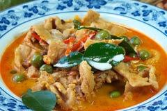 Caril tailandês do vermelho do alimento fotografia de stock royalty free