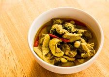Caril verde com galinha, alimento tailandês Imagem de Stock