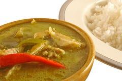 Caril verde tailandês Fotos de Stock Royalty Free