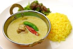 Caril verde tailandês Foto de Stock Royalty Free