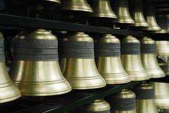 Carillon bells. Close-up of bronze carillon bells Royalty Free Stock Photos