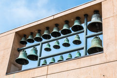 Carillon Bells on Wall at Church in Los Angeles, California Royalty Free Stock Image