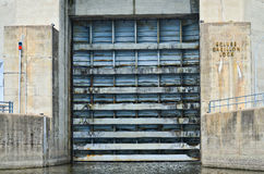 Carillon Canal Grungy Lock Door Stock Photo