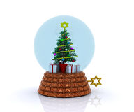 Carillon with christmas tree and gifts Stock Photos