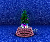 Carillon with christmas tree and gifts Royalty Free Stock Images