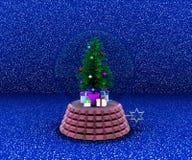 Carillon con l'albero di Natale ed i regali royalty illustrazione gratis